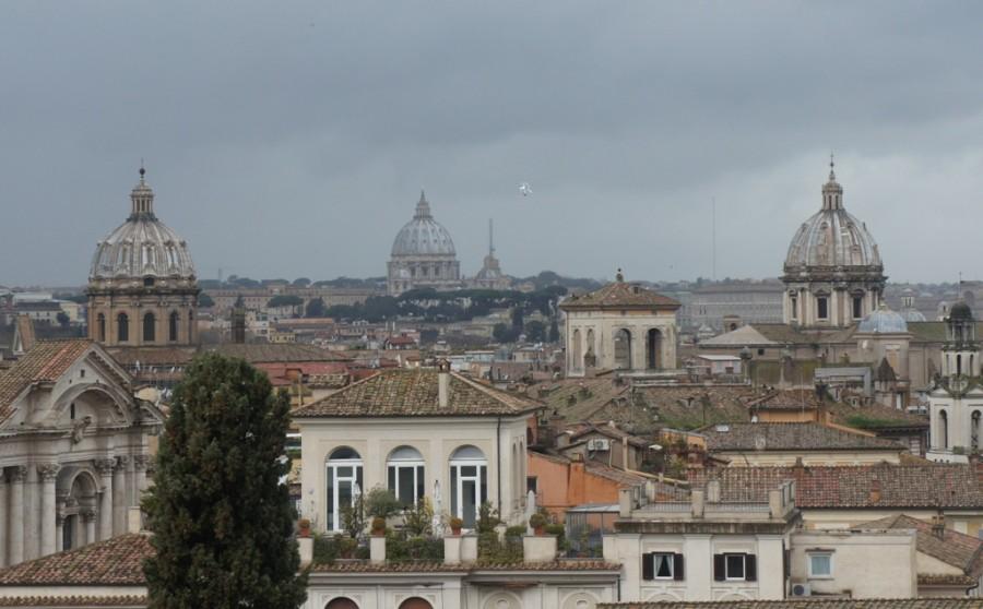 Рим крыши март
