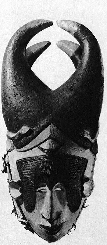 Зооантропоморфная маска общества ммво, дерево, игбо, Нигерия