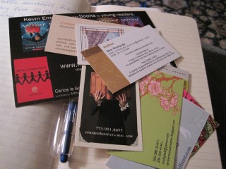Cards from writers I met