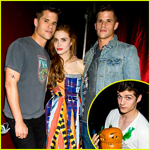 holland-roden-teen-wolf-cast-just-jared-halloween-party-2013