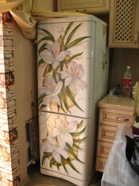 Своими руками раскрасить холодильник