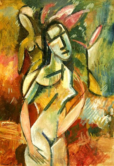 А. Девушка с цветком. 1915- 1916. Собрание ГМИИ РТ
