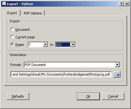 DjVu > PDF