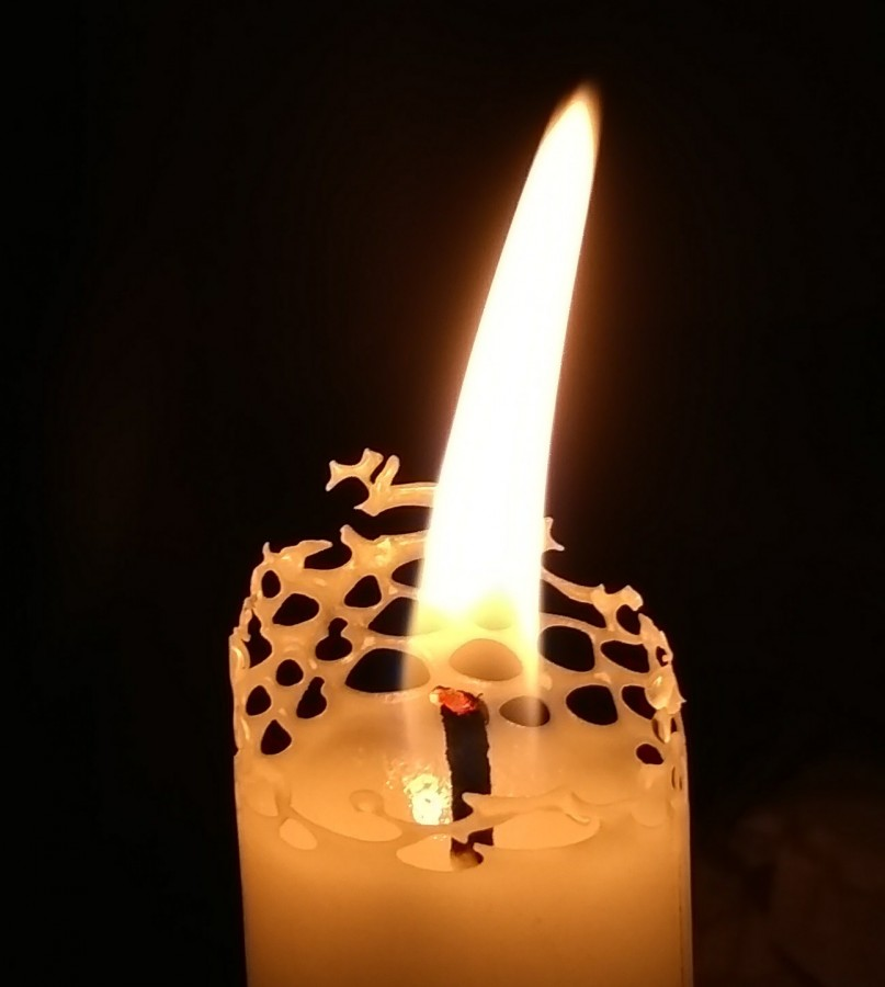 свеча ажурная