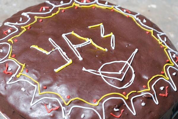 торт пражский с узором