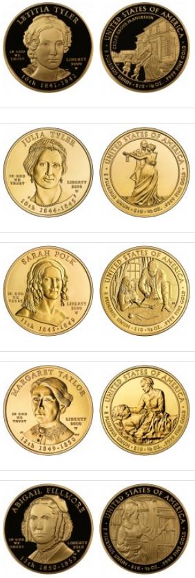 Золотые 10-ти долларовые монеты США