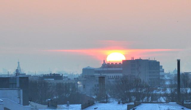 Восход в Петербурге 20 февраля 2009 года