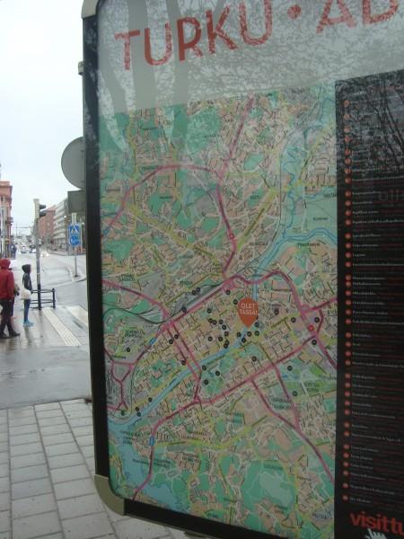 Турку. Карта центра города