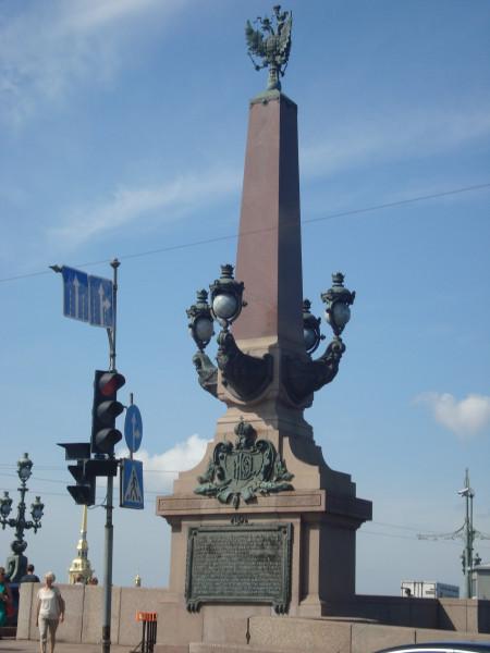 Санкт-Петербург. Колонна на Троицкий мосту