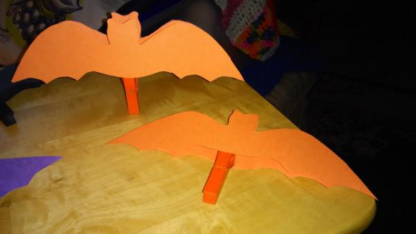 Orange bats assembled