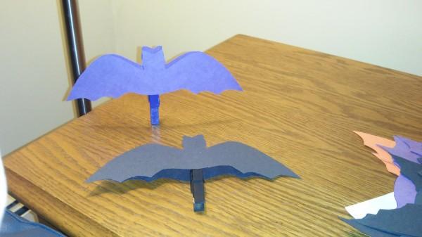 Purple and Black Bats Assembled
