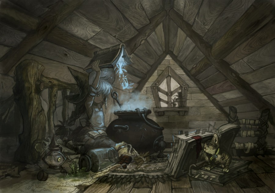 In the Attic by Hong