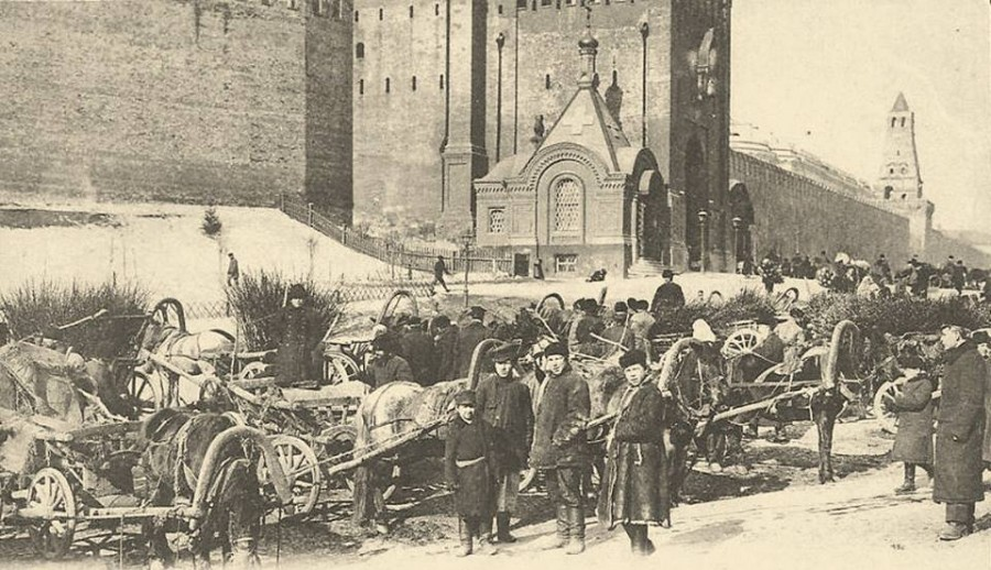 Вербный рынок на Красной площади
