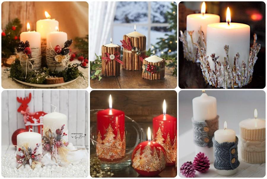 свечи на НГ стол