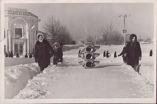 Зима на Сахалине, 1969 год.
