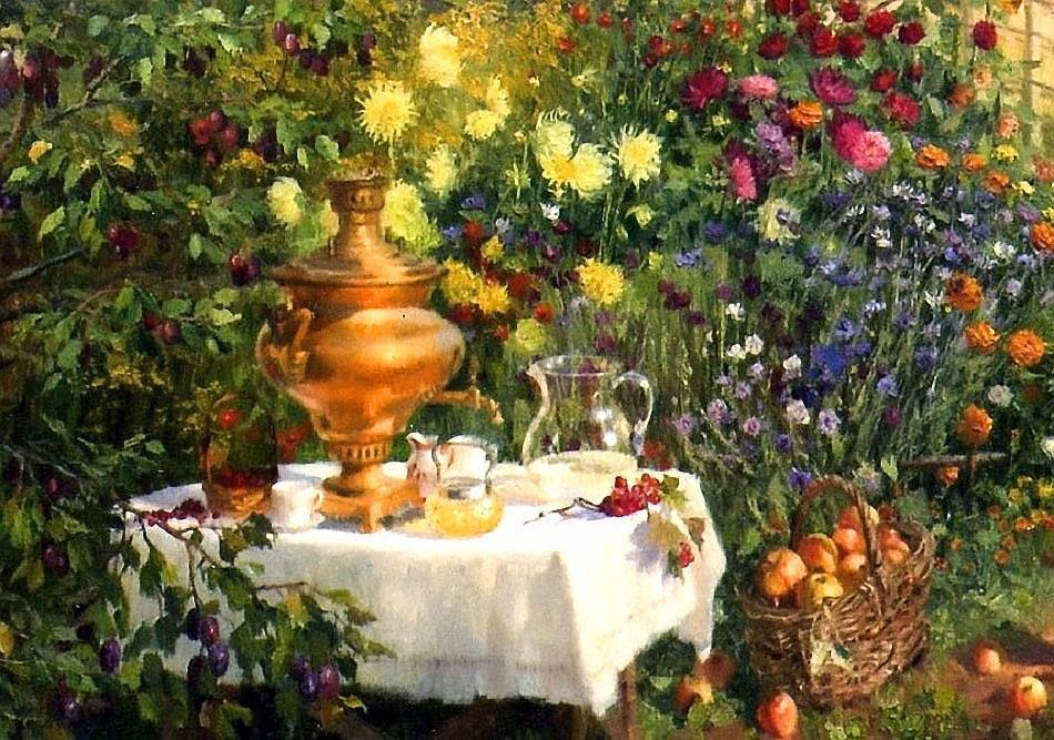 Жданов Владимир. Чаепитие в саду