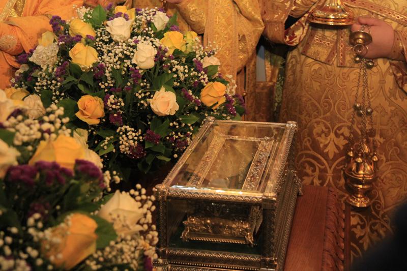 ларец с десницей св.Спирирода Тримифунтского