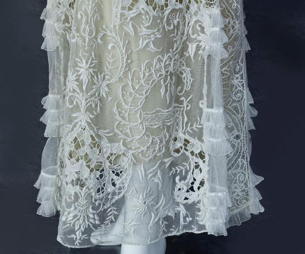 Mixed lace tea dress, c.19203