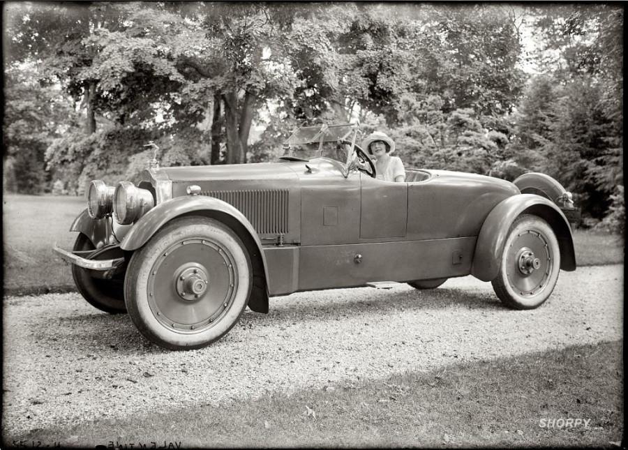 At the wheel  actress Grace Valentine, circa 1920.