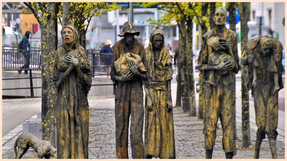 Мемориал памяти жертв Картофельного голода в Дублине. Фото www.menafn.com