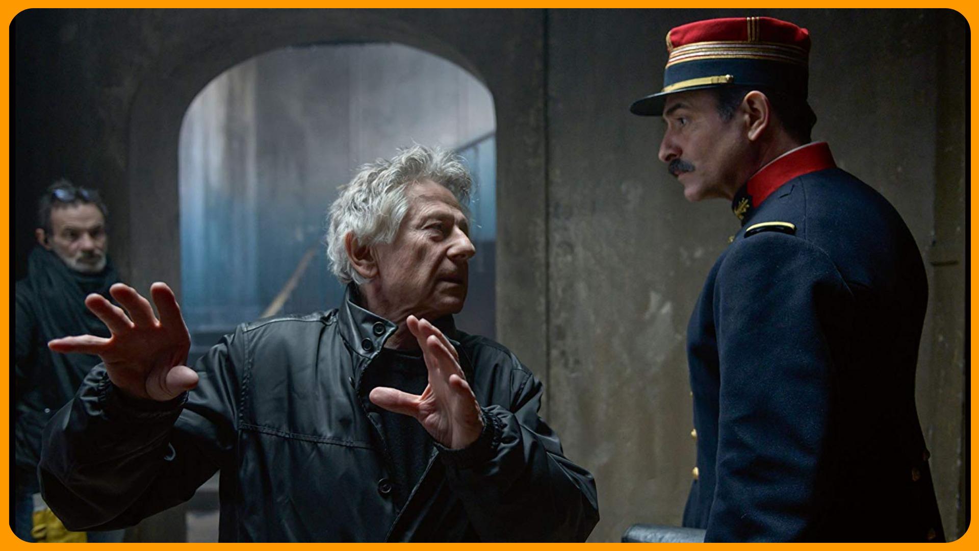 «Офицер и шпион» 2019. Фото со съёмок, в центре - режиссёр Роман Полански