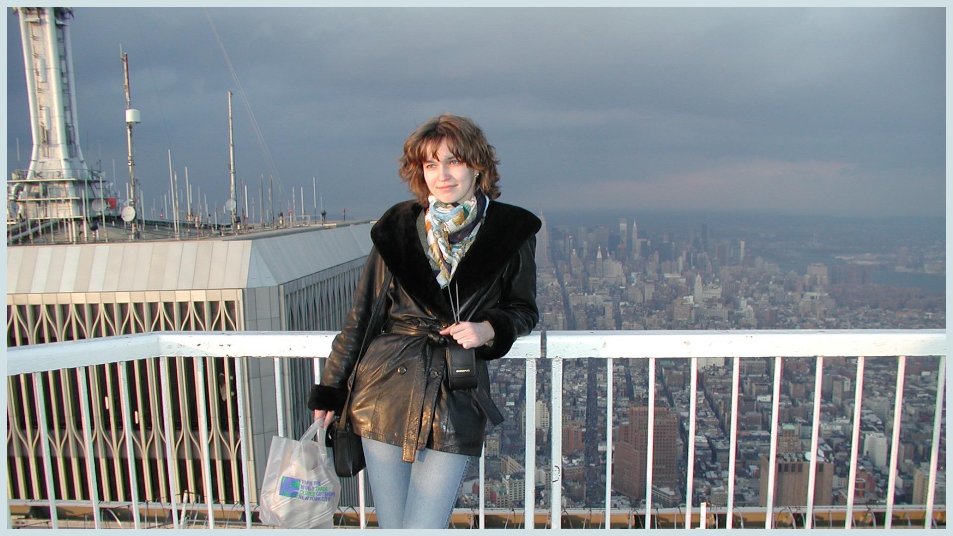 World Trade Center, смотровая площадка одной из башен, март 2001 года, Нью-Йорк. Фото Екатерина Широкова