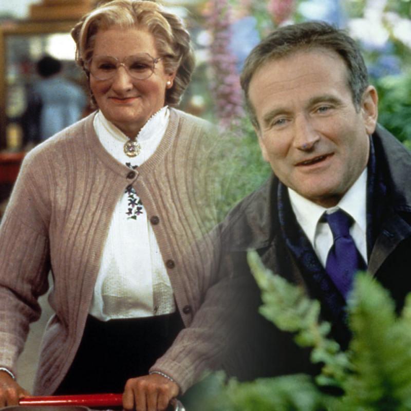 """Робин Уильям: """"Миссис Даутфайр"""" 1993, """"Куда приводят мечты"""" 1998"""