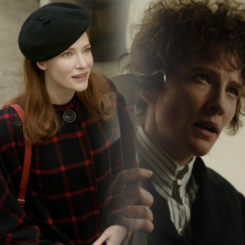 """Кейт Бланшетт : """"Меня там нет"""" 2007, сыграла Боба Дилана. Слева """"Загадочная история Бенджамина Баттона"""" 2009"""