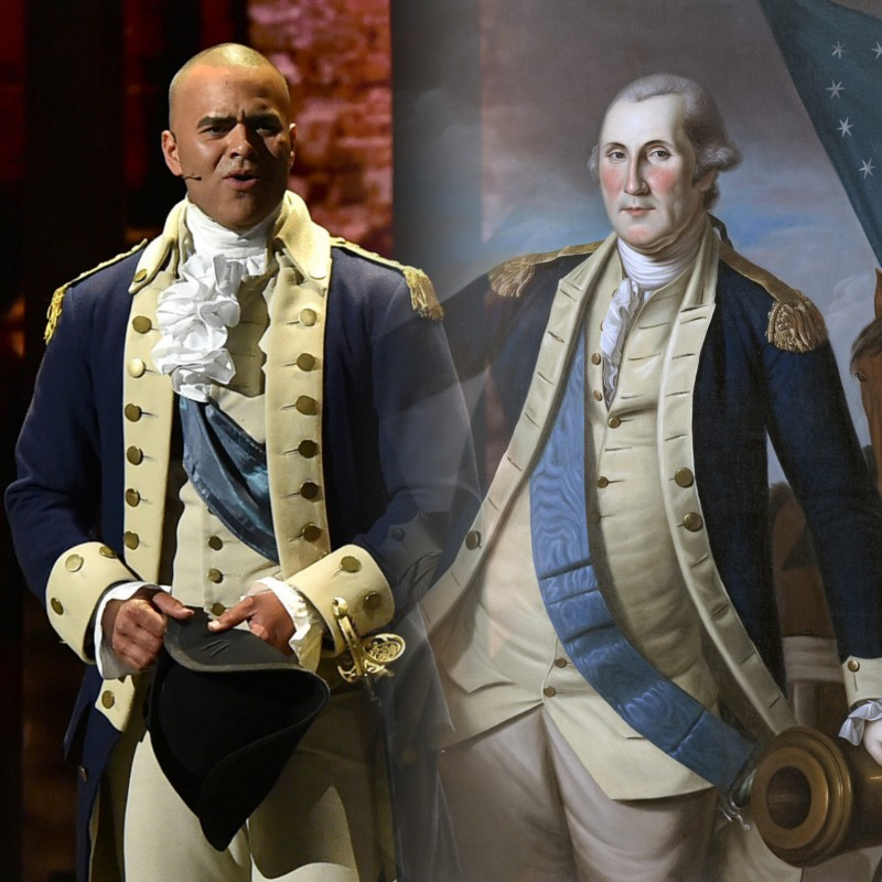 «Гамильтон» 2020 vs реальный прототип Джордж Вашингтон