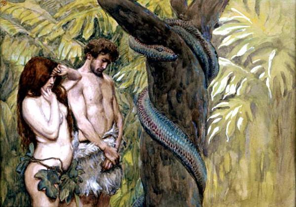 адам и ева у дерева со Змеем