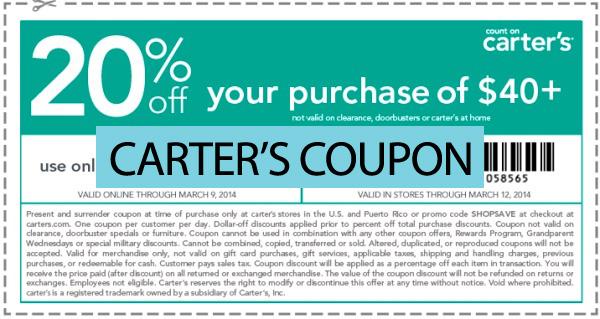 carter's coupon