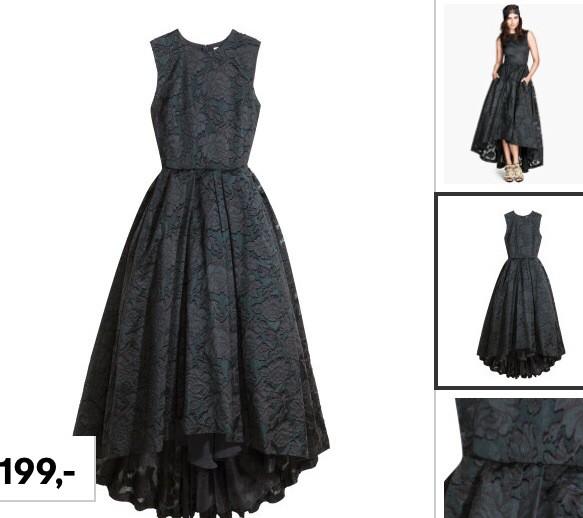 H m платье черное с белым