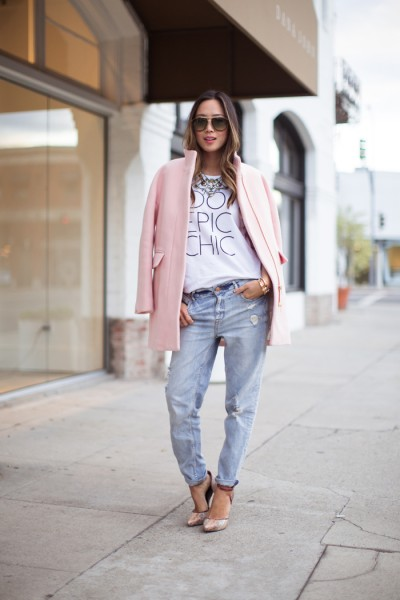song-of-style-pink-coat-boyfriend-jeans