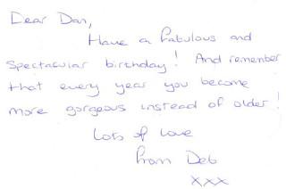 Deb's Birthday Card Message