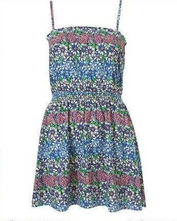 topshop petite blue flower sundress retail for $59
