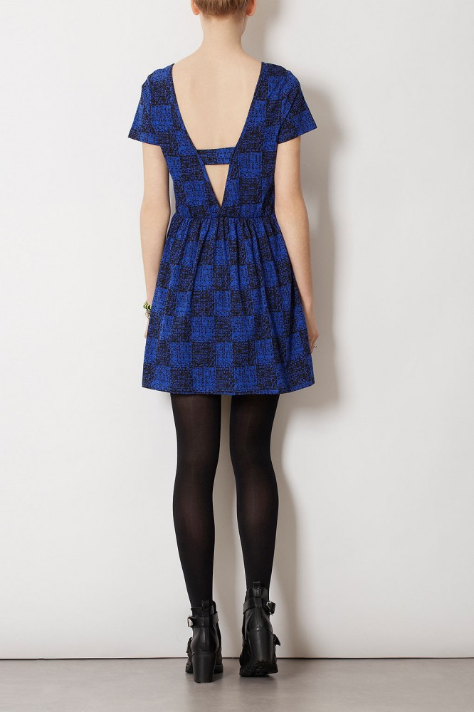 topshop geoprint flippy dress3