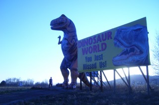 This is the roadside display that compelled us to visit Dinosaur World on our return trip to Memphis.