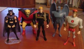 Huntress, Etrigan, Nemesis, Amazo (with Hawkgirl powers), and Lightray.