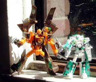 Airazor and Tigatron hang out in my window.