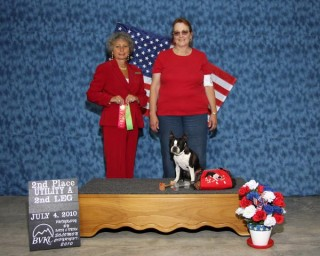 Dillon comes in second place and gets second leg on Utility Dog title.