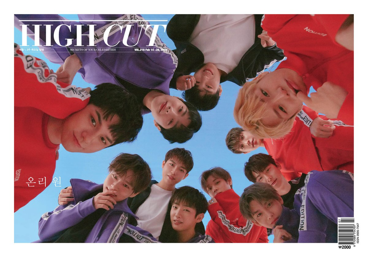 Wanna One For High Cut Magazine February 2018 Issue Omonatheydidnt