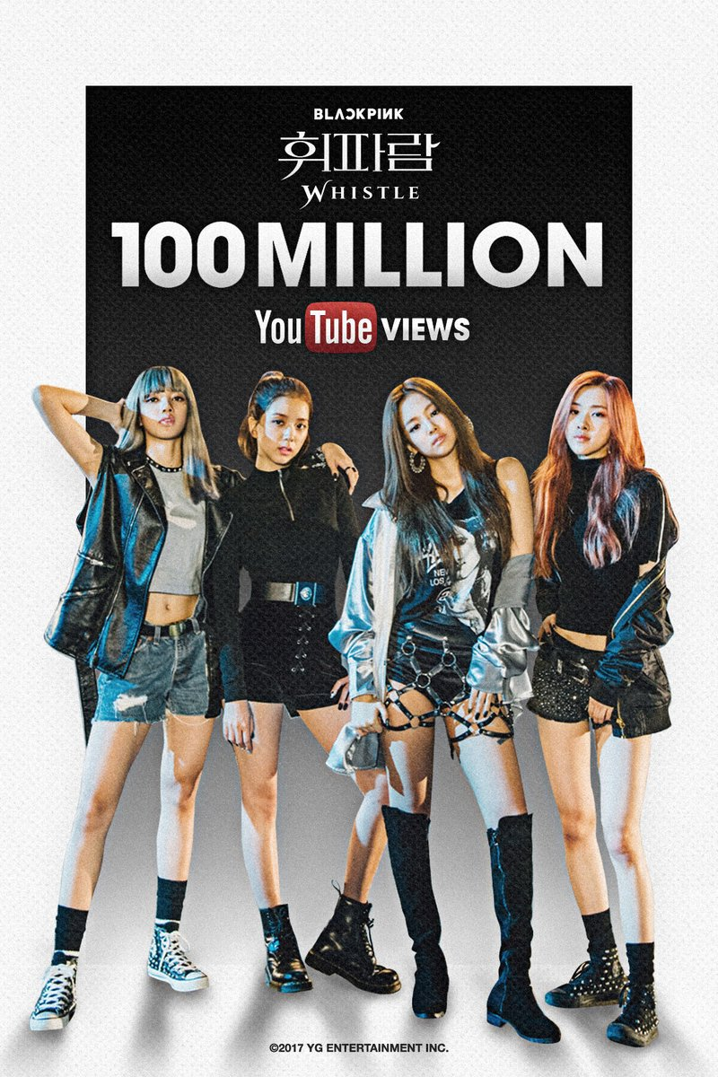 Blackpink S Whistle Amp Playing With Fire Mvs Hit 100