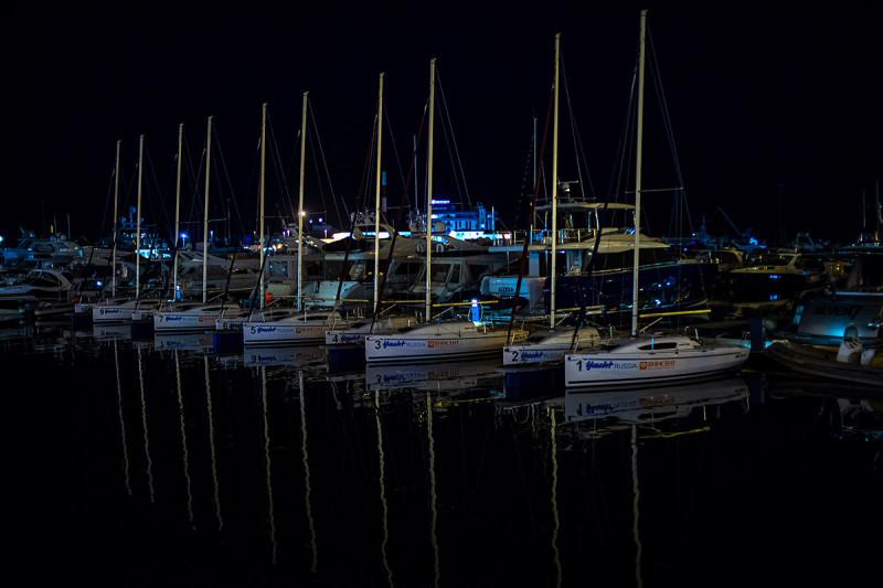 Яхты у Морвокзала порта Сочи.