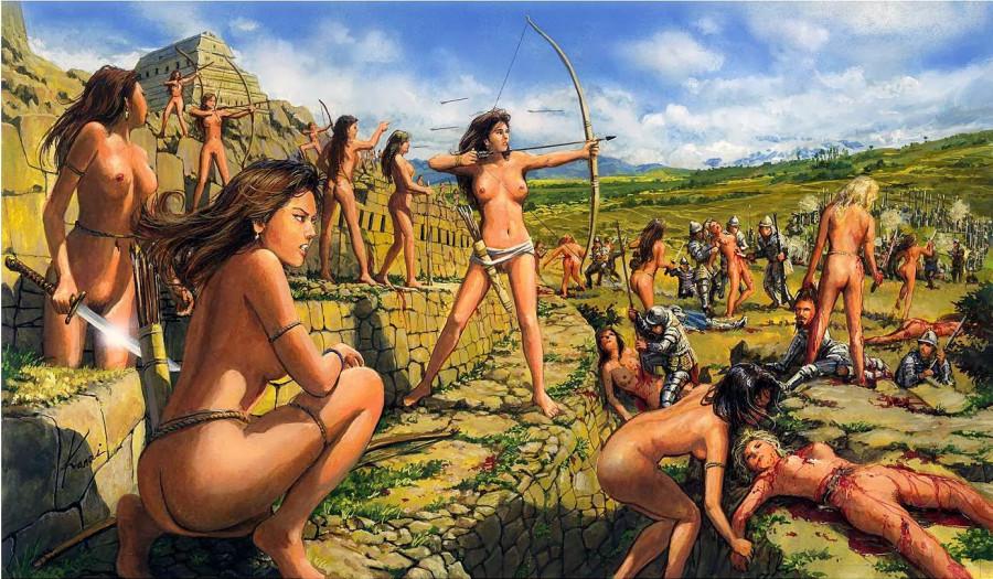 женщины воительницы картинки порно
