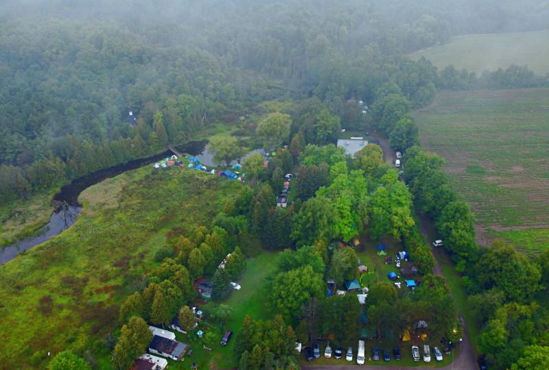 Палаточный лагерь Доброслёта с высоты птичьего полёта. Дрон DJI mini2