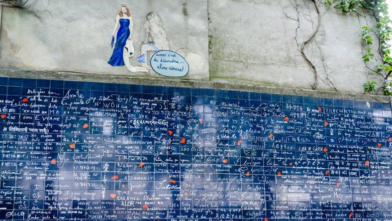 """""""Стена любви"""". Париж, Франция"""