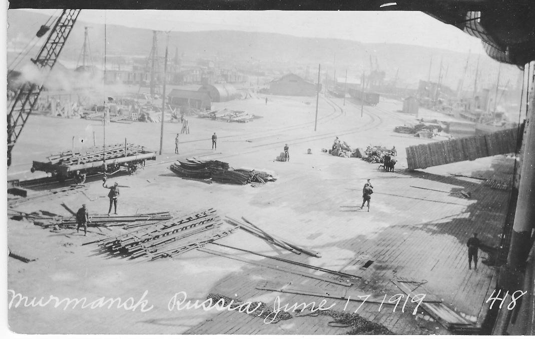 Мурманский порт в 1919 году