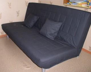 В чехле и с подушками