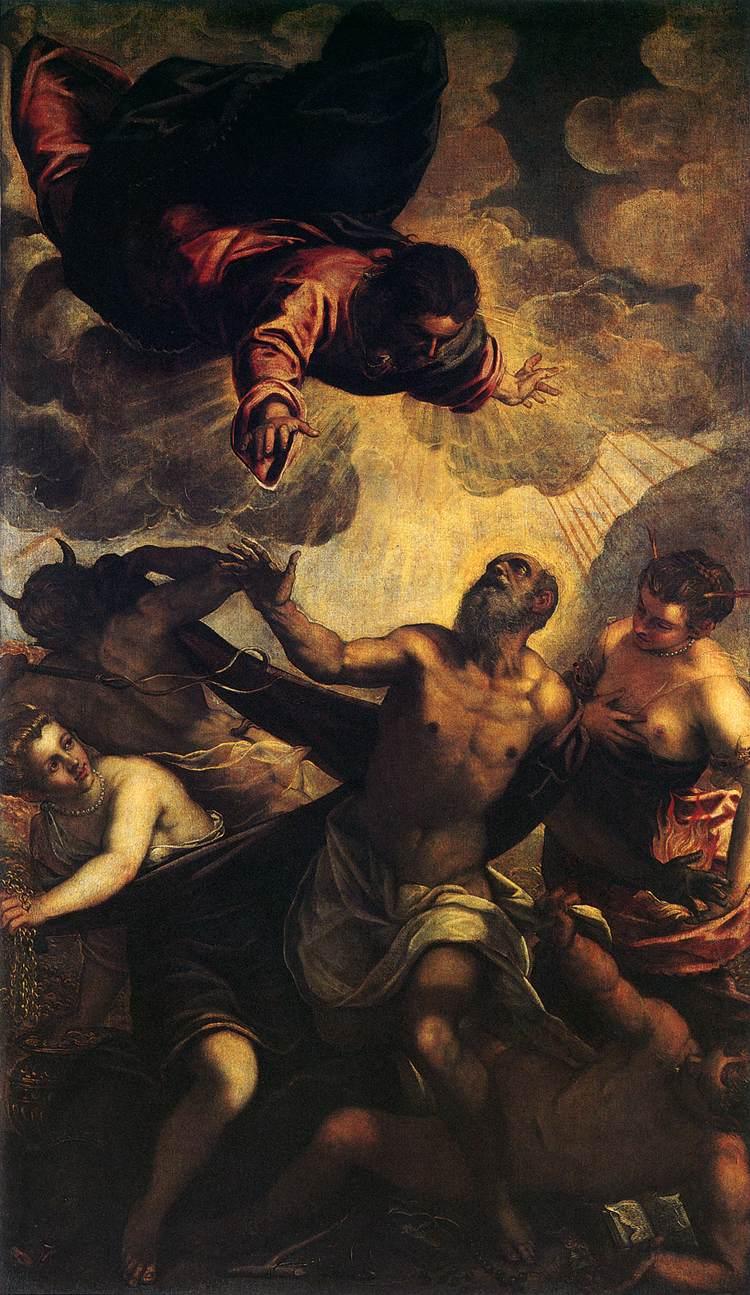 035-Искушение св.Антония (Тинторетто)