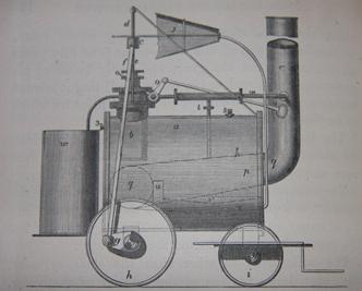 Первый локомобиль Тревитика. 1801 год